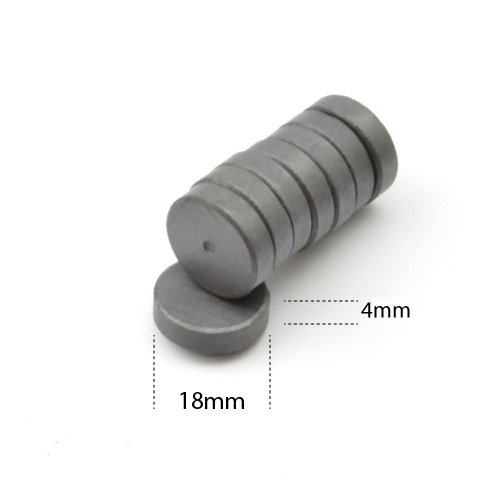 Anisotropic Ferrite Magnets (D18xT4mm) 50pcs