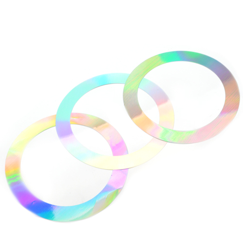 57mm Decorative Rings - Hologram 100pcs