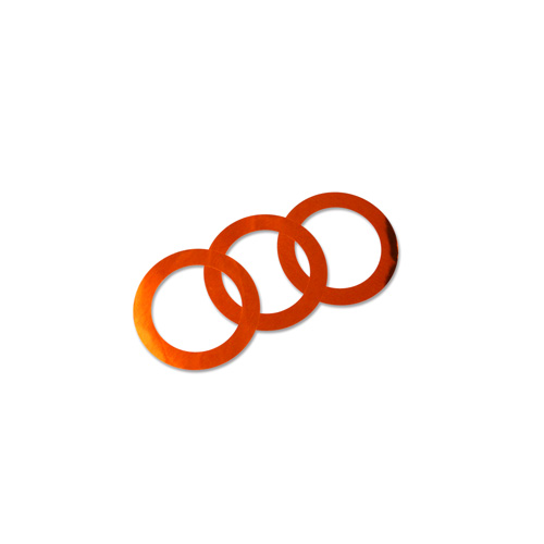 44mm Decorative Rings - Orange 100pcs