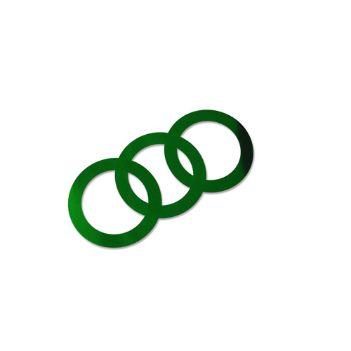 44mm Decorative Rings - Green 100pcs