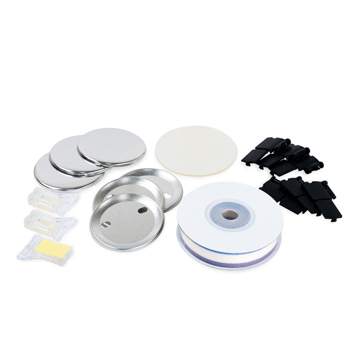 57mm Medal Parts Set 50pc Stripe [Viola & Butter Milk & Gray]